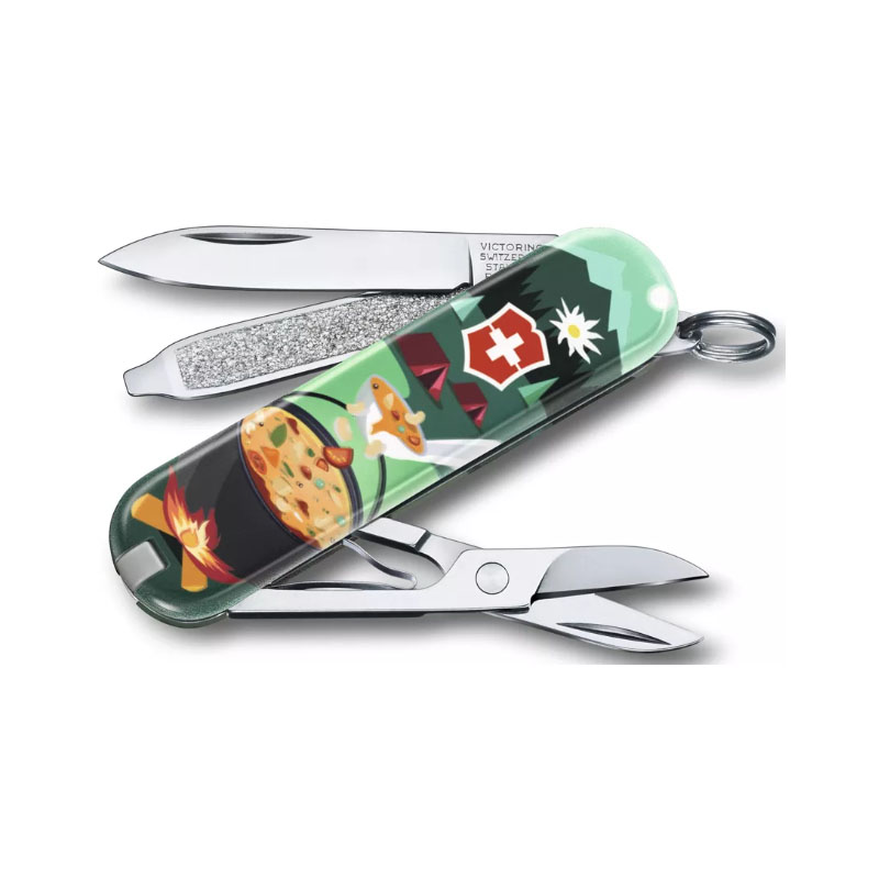 Нож-брелок Classic 2019 VICTORINOX 0.6223.L19* (0.6223.L1907, Swiss Mountain Dinner)